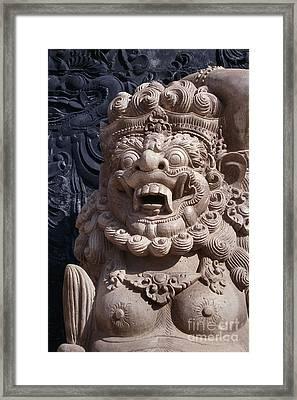Bali Hindu Temple Sculpture Photograph - Bali Guardian I Framed Print