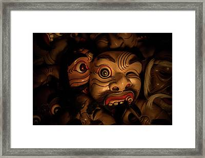 Bali Mask Framed Print