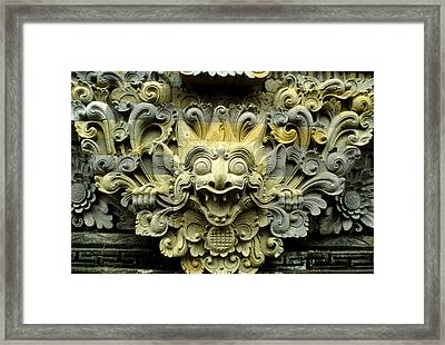 Bali Temple Art Framed Print by Jerry McElroy