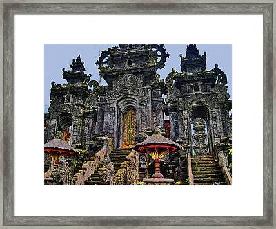 Bali. Yellow Door. Framed Print by Andy Za