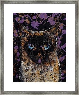 Balinese Cat Framed Print by Michael Creese