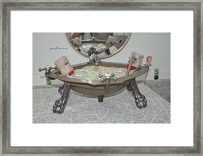 Ball And Claw Jacuzzi Framed Print by Michael Jude Russo