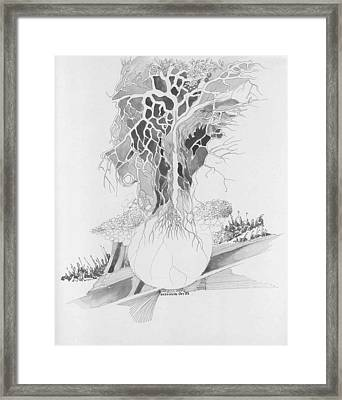 Ball And Tree Framed Print
