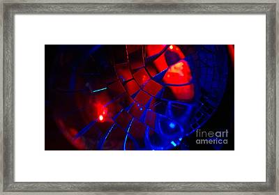 Ball Of Color - Red Framed Print