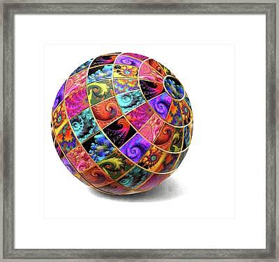 Ball Of Fractals Framed Print
