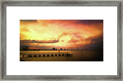 Ballast Point Glow Framed Print by Marvin Spates