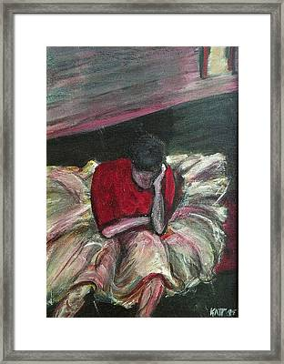 Ballerina After Practice Framed Print