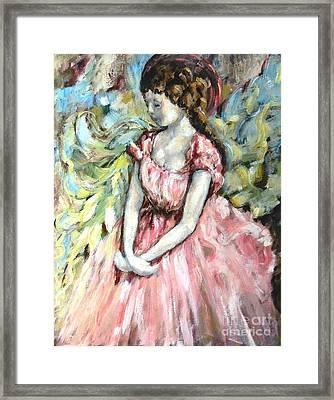 Ballerina Angel Framed Print by Carrie Joy Byrnes