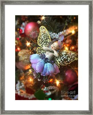 Ballerina Angel Christmas Ornament Framed Print by Amy Cicconi