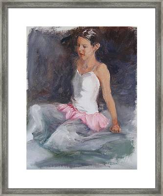 Ballerina At Rest Framed Print by Connie Schaertl