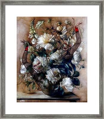 Ballerina Bouquet Framed Print by G Berry