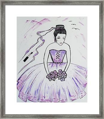 Ballerina Bride  Framed Print