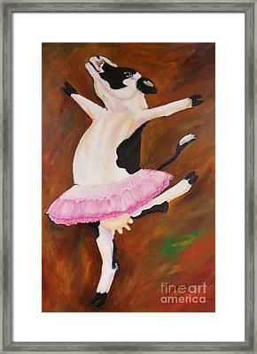 Ballerina Cow Framed Print