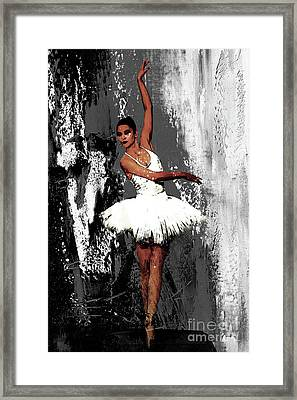 Ballerina Dance 073 Framed Print by Gull G