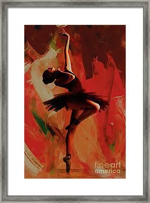 Ballerina Dance 0800 Framed Print by Gull G