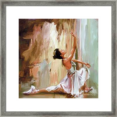 Ballerina Dance Art 99ew Framed Print