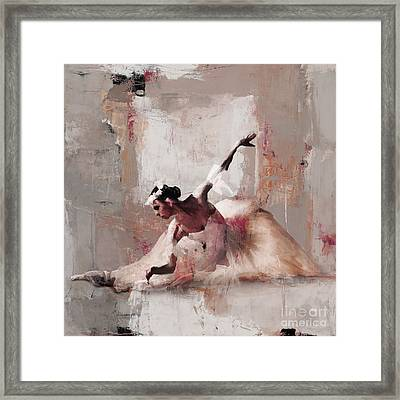 Ballerina Dance On The Floor 02 Framed Print by Gull G