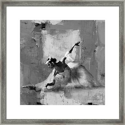 Ballerina Dance On The Floor  Framed Print by Gull G