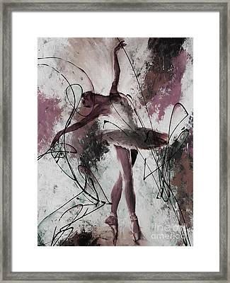 Ballerina Dance Painting 0032 Framed Print by Gull G