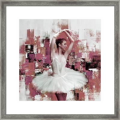 Ballerina Dance Painting 457 Framed Print