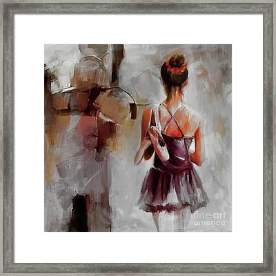Ballerina Dancer 9901 Framed Print by Gull G