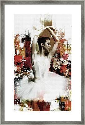Ballerina Dancing 67yi Framed Print by Gull G