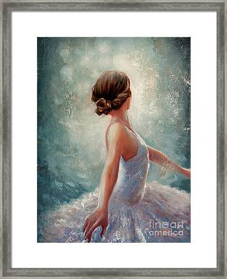 Ballerina Dazzle Framed Print by Michael Rock