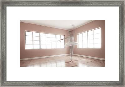 Ballerina Ghost Framed Print