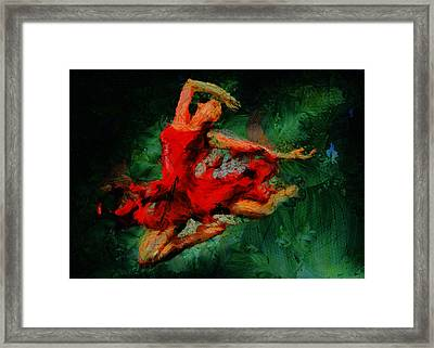 Ballerina Girl -  Love Is Seduction  Framed Print by Sir Josef - Social Critic -  Maha Art