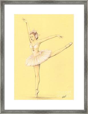 Ballerina II Framed Print by Enaile D Siffert