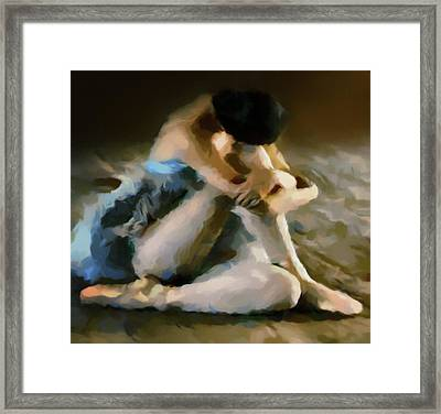 Ballerina In Repose Abstract Realism Framed Print