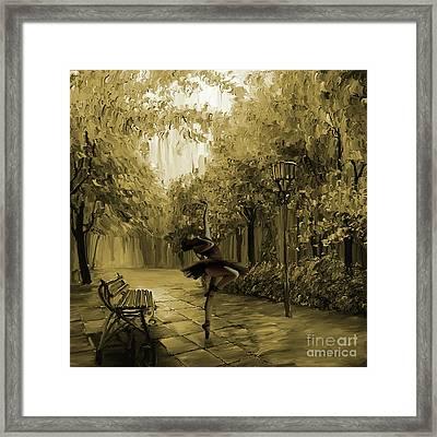 Ballerina In The Park 02 Framed Print by Gull G