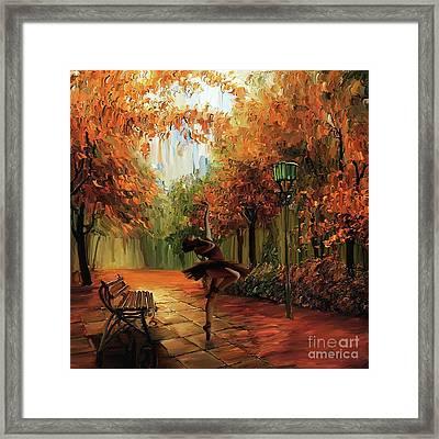 Ballerina In The Park  Framed Print by Gull G