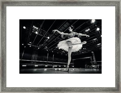 Framed Print featuring the photograph Ballerina In The White Tutu by Dimitar Hristov