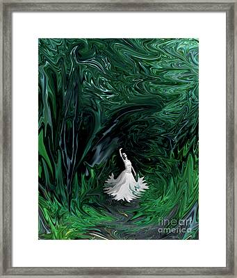 Framed Print featuring the photograph Ballerina In Wonderland by Rebecca Margraf