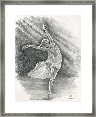 Ballerina Framed Print by Jana Goode