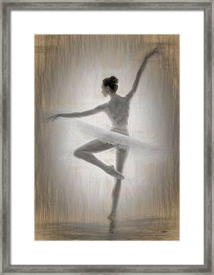 Ballerina Framed Print by Quim Abella