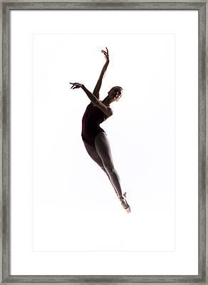 Ballerina Jump Framed Print