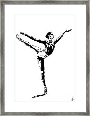 Ballerina Framed Print by Lorenzo Fabriani