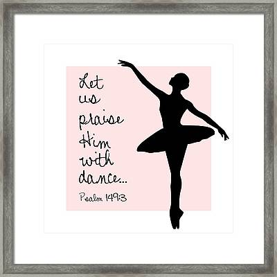 Framed Print featuring the digital art Ballerina Praise by Nancy Ingersoll
