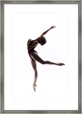 Ballerina Reach Framed Print