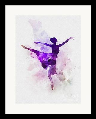 Ballet Dance Mixed Media Framed Prints