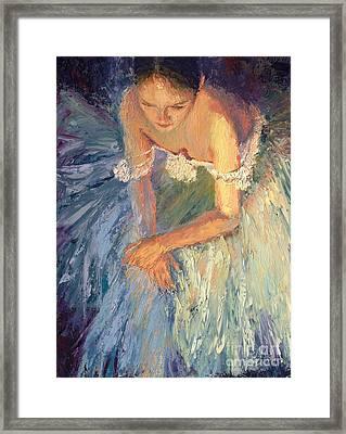 Ballerina Resting Framed Print by Colleen Murphy