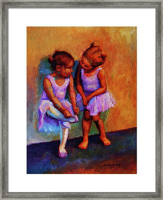 Ballerina Secrets Framed Print by Jeanne Young