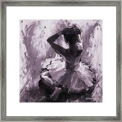 Ballerina Sitting 01 Framed Print