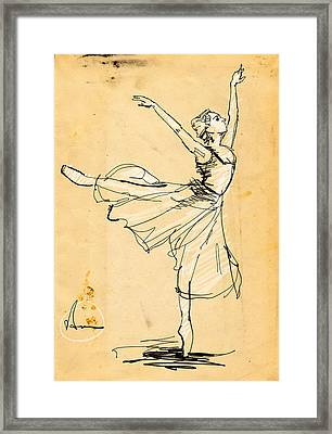 Ballerina Study Framed Print by H James Hoff
