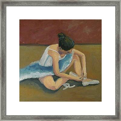 Framed Print featuring the painting Ballerina by Susan  Spohn