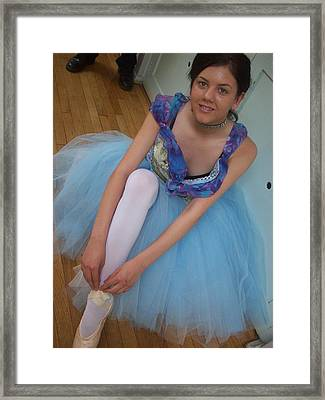 Framed Print featuring the painting Ballerina Suzanne by Judith Desrosiers