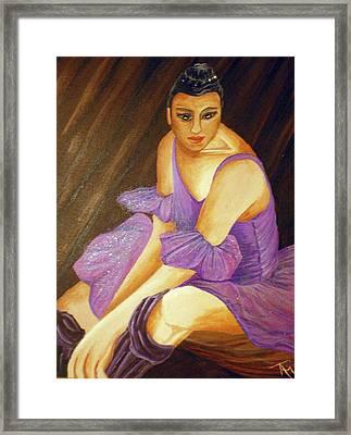 Ballerina Framed Print by Tammera Malicki-Wong