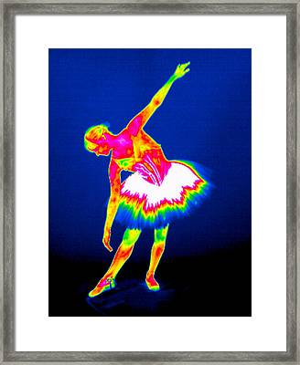 Ballerina, Thermogram Framed Print